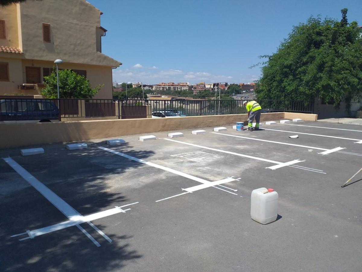 Zona de aparcamiento en Terramelar