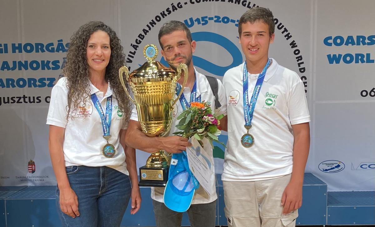 Luis Tamarit, Ornella Tosta y Xavier Martínez campeonato mundo pesca deportiva