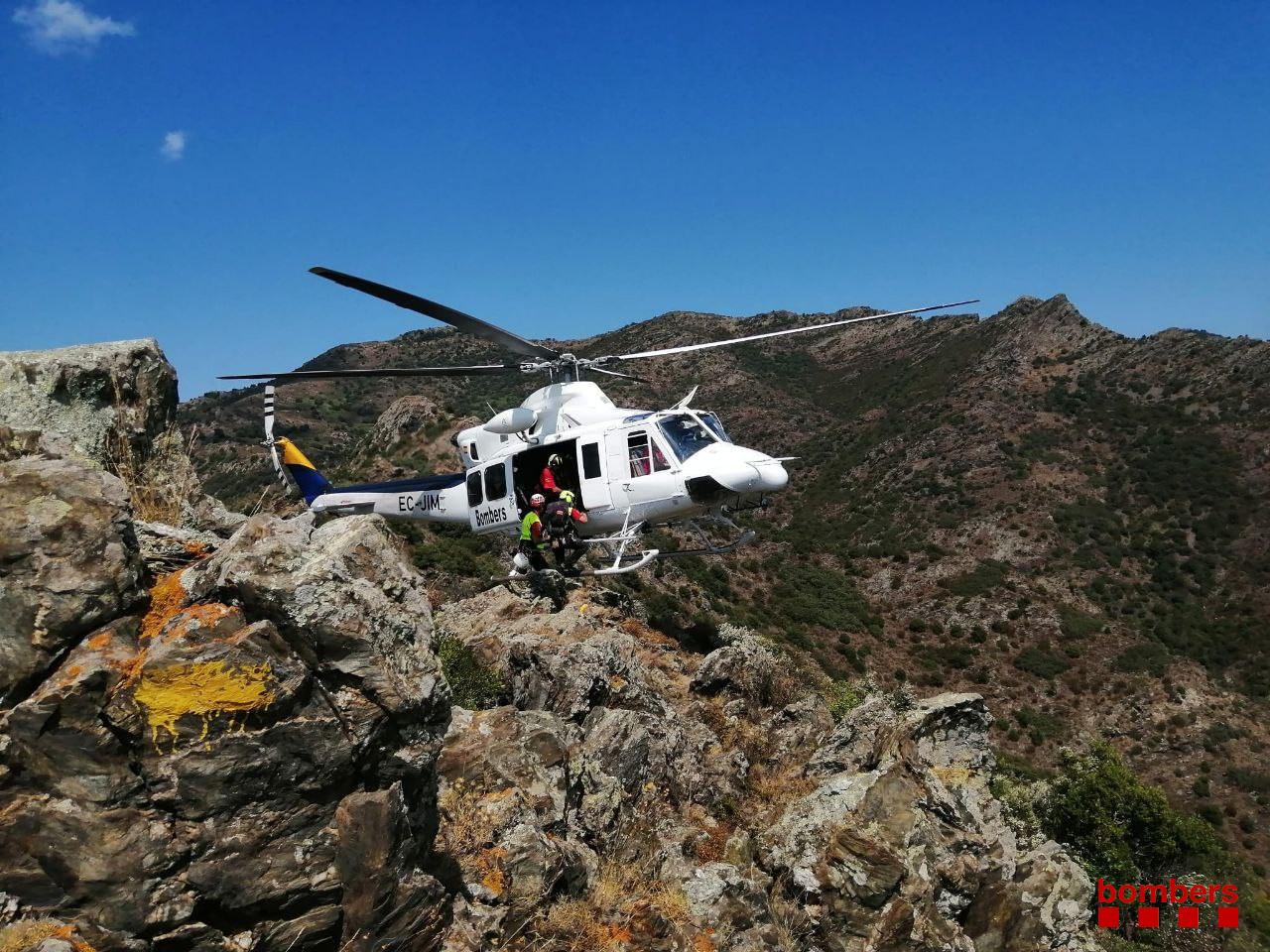 Bombers Catalunya rescate montaña