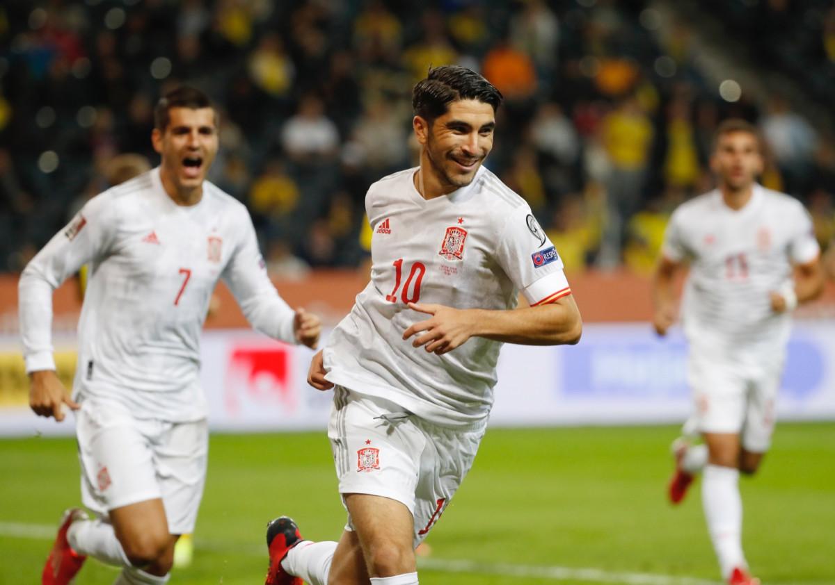 Carlos Soler debut y gol con la Selección Española