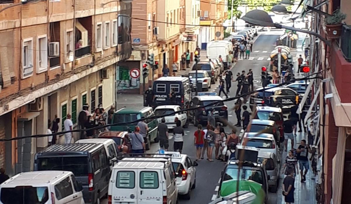 Pelea en Orriols despliegue policial