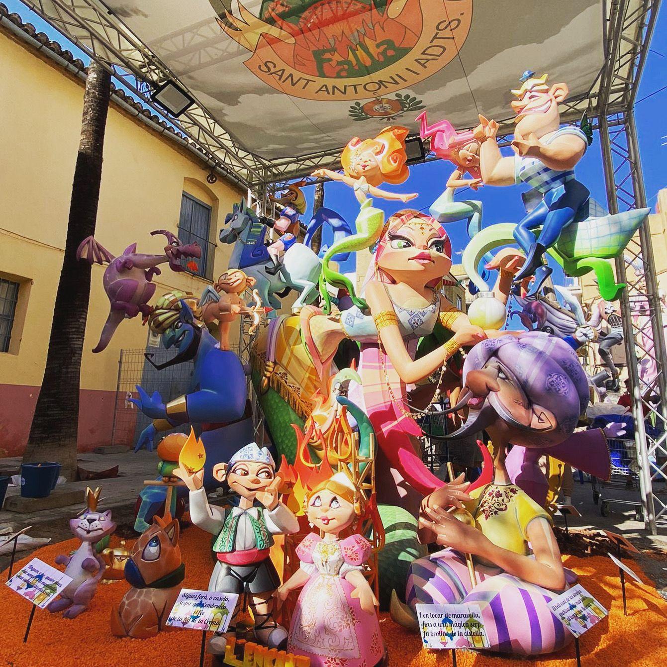 falla infantil Sant Antoni, primer premio Aldaia 2021