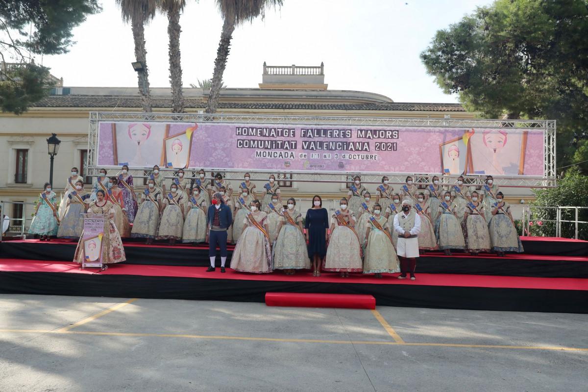 Moncada acoge el Homenaje a las Falleras Mayores de la Comunitat Valenciana 2021