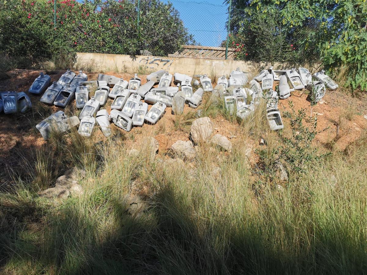 farolas abandonadas Moncada