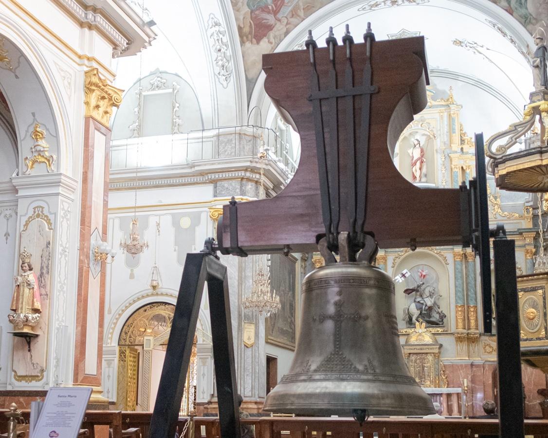 campana Santa Maria de la iglesia de Paiporta Firma; Eliseu M.Roig