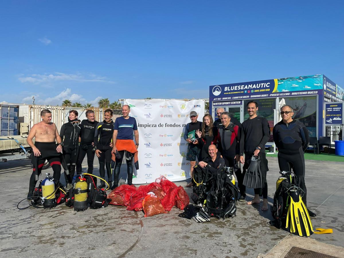 limpieza fondos marinos